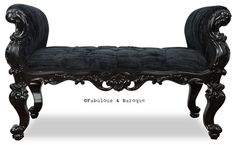 Fabulous and Baroque's Absolom Roche Bench - Put this in the waiting area