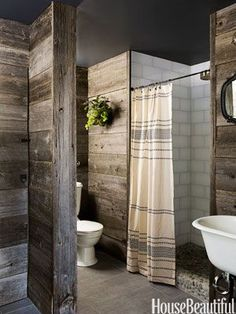 66709638203983428 Andrew and Yvonne Pojani on Designing a Rustic Bathroom.
