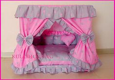 Princess Grey Pink Heart Pet Dog Handmade Bed Candy Pillow M Baby Bedroom, Bedroom Decor, Princess Dog Bed, Candy Pillows, Diy Toddler Bed, Personalized Dog Beds, Crate Cover, Diy Dog Bed, Beds For Sale