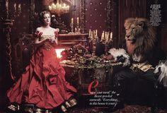 Annie Leibovitz: Beauty and the Beast with Drew Barrymore.
