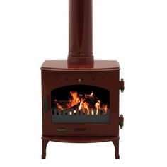 Red enamelled stove 41cm wide 4.7kw