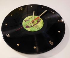 JIMI HENDRIX Vinyl Record Clock Are You by RecordsAndStuff on Etsy, $28.00