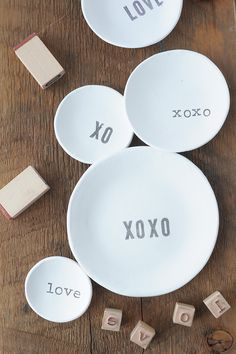 Learn how to make these sweet DIY Stamped Air Dry Clay Bowls. They make such a cute gift!