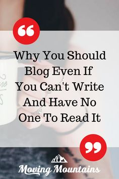 You need to be blogging - for you.