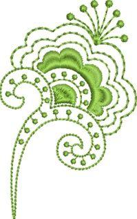 Folk Art Batik Embroidery 13  Susa Glenn Machine Embroidery Machine Embroidery
