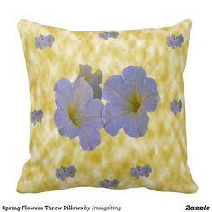 Spring Flowers Throw Pillows Cushion