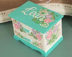 castle jewelry box personalized kids by Thegiftsfromladybug