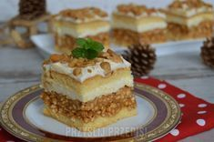 Ciasto biały lion Pudding, Tiramisu, Sweet Tooth, Food And Drink, Ethnic Recipes, Lion, Salad, Lion Cakes, Bakken