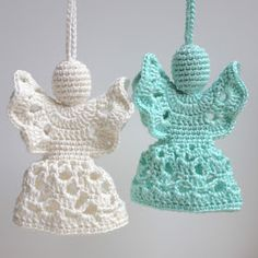 Hilde haakt: Engel haken Crochet Christmas Decorations, Crochet Christmas Ornaments, Christmas Crochet Patterns, Handmade Christmas, Christmas Crafts, Angel Crochet Pattern Free, Crochet Angels, Crochet Diagram, Free Pattern