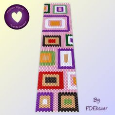 Candy Shop Peyote Stitch Beading Pattern for cuff by FDEkszer, $6.50