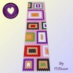 Candy Shop Peyote Stitch Beading Pattern for cuff by FDEkszer, $6.50
