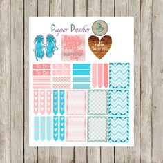 This June Monthly Sticker kit contains enough stickers for your entire month! In shades of coral and teal- this months kit reminds you of the