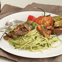 Herb Spaghetti with Bacon