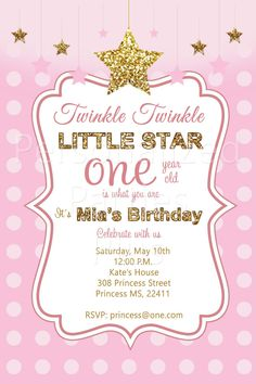 Twinkle Twinkle Little Star Invitation By Myprintableinvite
