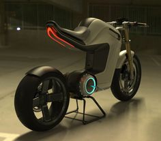 Bolt concept electric motorbike - not quite Tron, but smart looking!