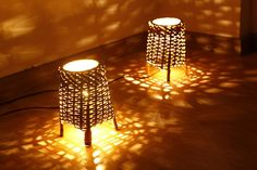 Bamboo Lamps. I think i can I can make one using a basket