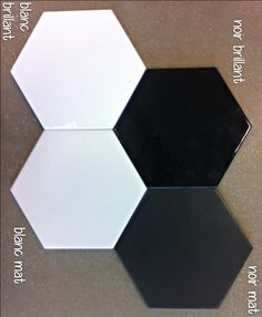 Carrelage hexagonal mat gris 15 x 15 cm he0811012 for Carrelage hexagonal blanc