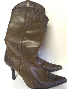 82cf463ece361d Ladies Boots Western Size 8 Brown 3