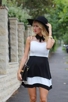 Black And White Dress love the top of it