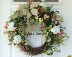 Spring Wreath-Fern Wreath-Greenery Wreath-Wreath for Door-Easter Wreath-Ivy Wreath-Rustic Wreath-Cottage Chic-Woodland Wreath