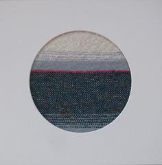 """Pink Horizon"" framed hand woven landscape | Felt Dark Teal, Classic White, Bright Pink, Hand Weaving, Arts And Crafts, My Arts, Felt, Landscape, Frame"