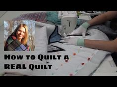 How to Quilt a REAL Quilt with Straight Lines - Quilting Tutorial with Leah Day - YouTube