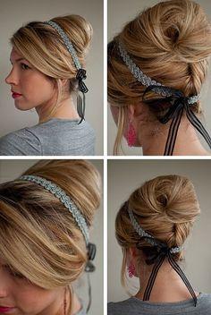 Elegant big bun hair style