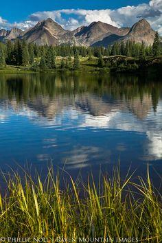 High mountain lake in summer. San Juan Mountains, Colorado.