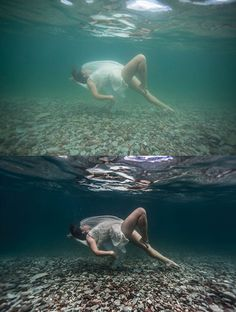 My brain is officially underwater. Photographically, that is. I see everything in terms of underwater. A friend shows me the gorgeous wedding dress she pic