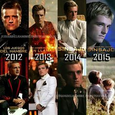 Peeta throughout the movies (best of in catching fire)