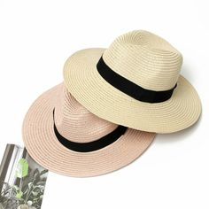 6dff0834883603 (Sponsored)eBay - New Summer 2019 For Women Panama Straw Hat Fedora Beach  Wide