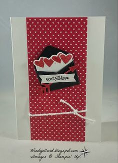 Windy's Wonderful Creations: Sent With Love!, Sending Love DSP, Love Notes framelits dies, Sealed With Love, Stampin' Up!