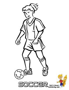 Soccer Player Coloring Page You Can Print Out This Soccer Coloring