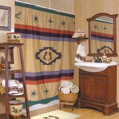 Kokoepelli Cotton Shower Curtain