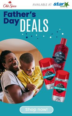 Celebrate dad this Father's Day with great deals at Star Market! Shop his favorite Old Spice products today. Head And Shoulders Shampoo, Father's Day Deals, Nighttime Sleep Aid, Old Spice, Party Service, Special Promotion, Fathers Day, Dads, The Unit