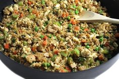 3 SP  Amazing Skinny Chicken Fried Cauliflower Rice with Weight Watchers Points | Skinny Kitchen