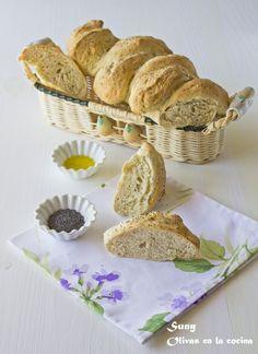 Olivas en la cocina: Pan espiga con semillas de amapola Kitchenaid, Cupcakes, Yeast Bread, Pains, Bread Recipes, Homemade, Types Of Pizza, Bread Types, Buns
