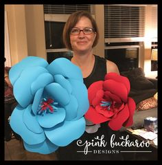 Pink Buckaroo Designs: Sweet Stampede Sale A Bration and Giant Flower Tutorial 3d Paper Flowers, Giant Flowers, Flower Tutorial, San Antonio, 3 D, Stampin Up, Crafting, Paper Crafts, Tutorials