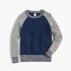 J.Crew - Boys' crewneck baseball sweater