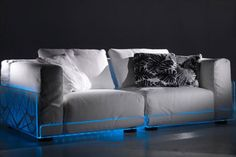 Modern Sofa with Built-In Mood LED Lights