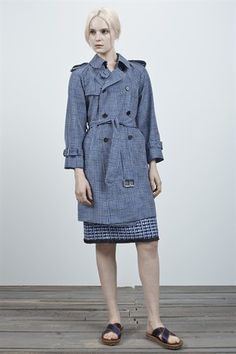 Marc Jacobs RE14 Sketch Check Trench Coat