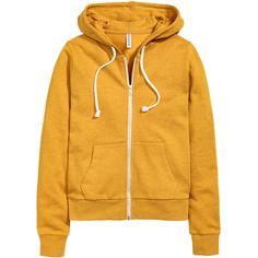 Kapuzenjacke 19,99 ($20) ❤ liked on Polyvore featuring yellow jacket, h&m jackets, mustard jacket, zip jacket and mustard yellow jacket