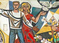 Detail from Haus des Lehrers mosaic Berlin