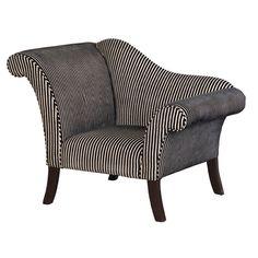 Swish B W Striped Chair
