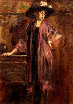 Nicolae Vermont – Femeie cu pălărie Max Beckmann, Gustave Courbet, Manet, Impressionist, Vermont, Art Inspo, Art Gallery, Sketches, Oil Paintings