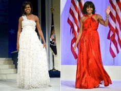 Michelle Obama's Inaugural Gowns in 2009 & 2013. Which do you prefer? #fashion http://www.ivillage.com/michelle-obama-inaugural-gowns-2009-2013/5-a-516643#