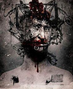 Dark Art by Seth Siro Anton Macabre Art, Danse Macabre, Epic Art, Amazing Art, Demon Art, Creepy Art, The Evil Within, Fantasy Inspiration, Horror Art