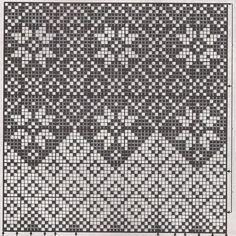 New Knitting Charts Mittens Link Ideas Fair Isle Knitting Patterns, Knitting Charts, Weaving Patterns, Knitting Stitches, Knitting Designs, Knitting Projects, Crochet Chart, Crochet Patterns, Filet Crochet