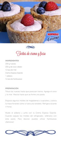 Tartas de Crema y Fresa