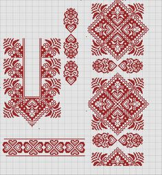 Cross stitching , Etamin and crafts: Traditional cross stitch Pattern Border Embroidery Designs, Folk Embroidery, Cross Stitch Embroidery, Embroidery Patterns, Cross Stitch Borders, Cross Stitch Designs, Cross Stitching, Cross Stitch Patterns, Loom Beading